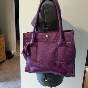 Kate Spade Purple Leather Satchel Purse